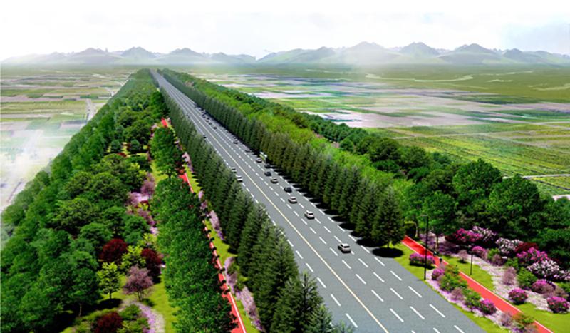 西沣路道路绿化景观改造提升工程(生态段)3标段
